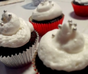 grey, red, and cupcakes image
