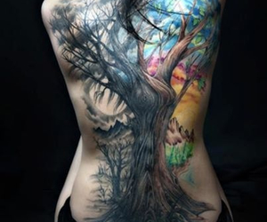 tattoo, tree, and ink image