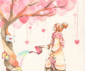 heart, pink, and art image