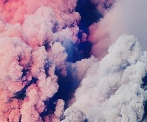 pink, clouds, and smoke image