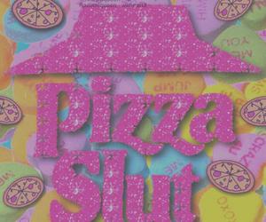 pizza, soft grunge, and slut image