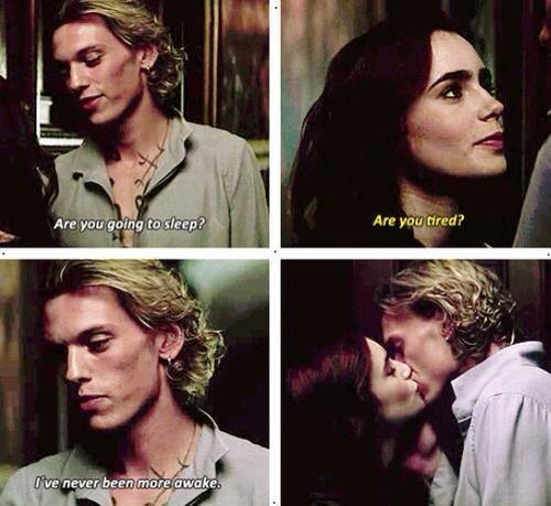 jace, clary, and kiss image