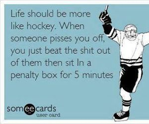 hockey, life, and funny image
