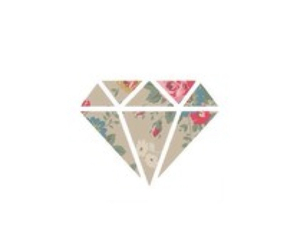 overlay, diamond, and floral image