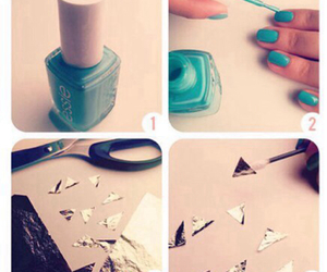 foil, nail, and pretty image