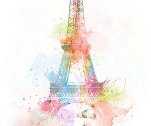 paris, eiffel tower, and art image