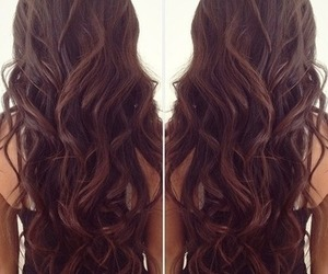 brown, curly hair, and curls image