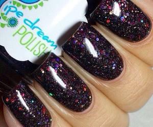 beautiful, black nails, and chic image
