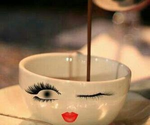 coffee, cup, and eyes image