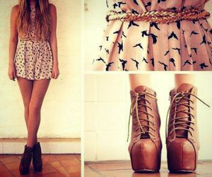 boots, hair, and clothes image