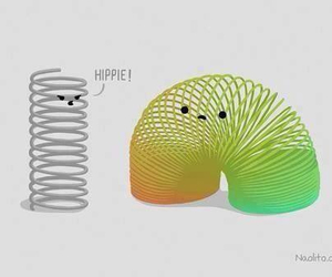 hippie, funny, and colors image