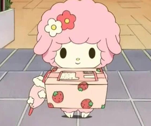 pink, anime, and sanrio image