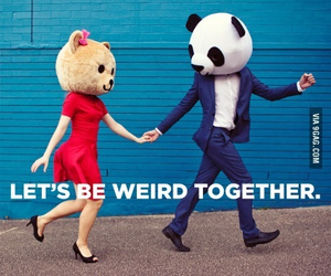 weird, love, and together image