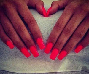 beautiful, nails, and red image