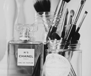 chanel, makeup, and black and white image