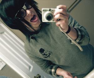 boy, emo, and glasses image