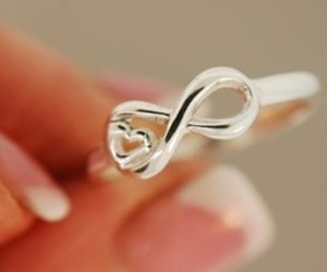 ring, infinity, and heart image