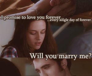 bella swan, edward cullen, and proposal image