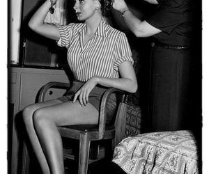 girl, hairstyle, and vintage hair image