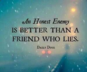 quote, friends, and enemy image