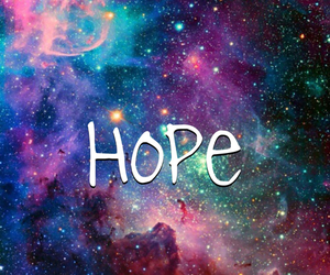 hope, love, and galaxy image