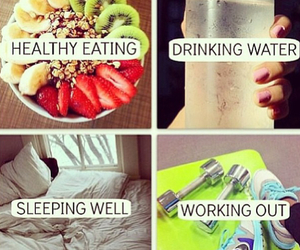 drink, eat, and fit image