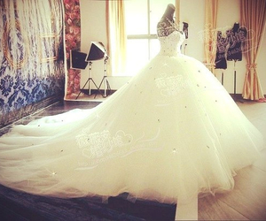 beautiful, bride, and dress for girl image