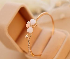 beautiful, bracelet, and gold image