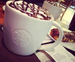 chocolate and starbucks image