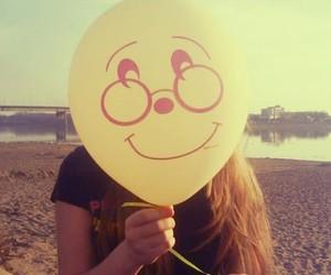 girl, balloons, and smile image