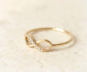 ring, infinity, and gold image
