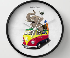clock, elephant, and truck image