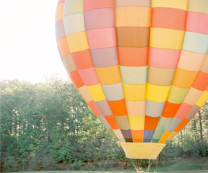 balloons, couple, and hot air balloon image