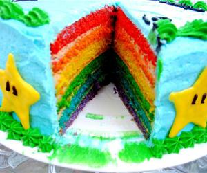 cake, stars, and colorful image