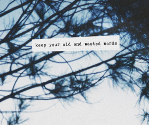 words, text, and wasted image
