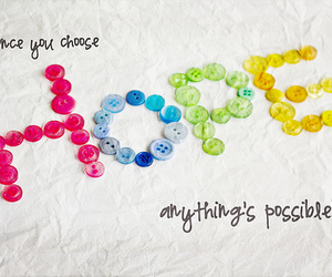 hope, quote, and buttons image