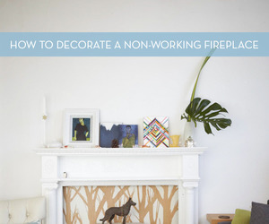 decorate, diy, and fireplaces image
