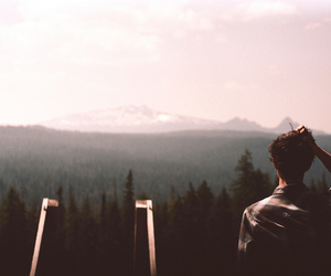 boy, hipster, and mountains image