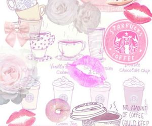cute, pink, and starbucks image
