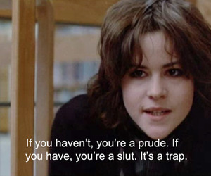 The Breakfast Club, quotes, and slut image
