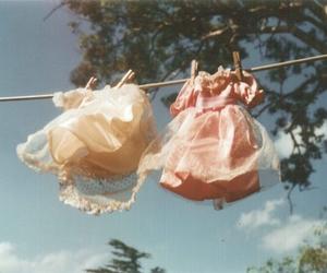 dress, vintage, and pink image