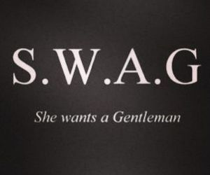 swag, gentleman, and want image