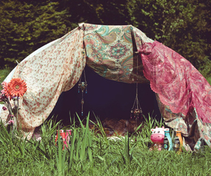 tent, hippie, and indie image