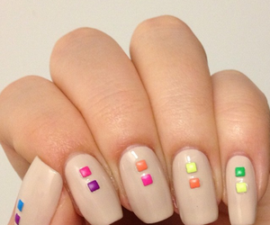 colorful nails, manicure, and nail art image