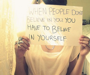 believe, sign, and typography image