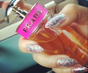 Prada, nails, and perfume image
