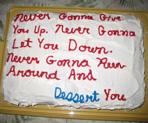 cake, funny, and dessert image
