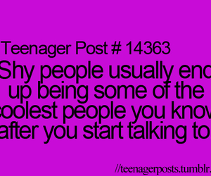 quote, shy, and teenager post image