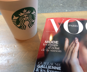 coffee, starbucks, and vogue image