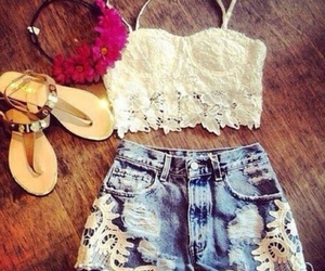 beautiful, clothes, and short image